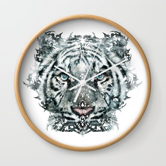 The White Tiger (Classic Version) Wall Clock