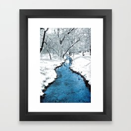 Overnight Snow in Edgemont Park Framed Art Print