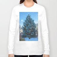 christmas tree Long Sleeve T-shirts featuring Christmas tree  by Svetlana Korneliuk