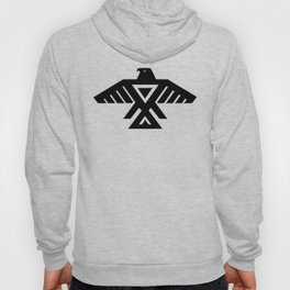 Thunderbird, Emblem of the Anishinaabe people - Black on Red Hoody