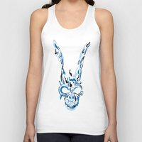 donnie darko Tank Tops featuring Donnie Darko Frank(Blue & Black) by theweendigo