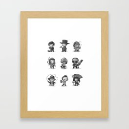 Little Movie Heroes Framed Art Print