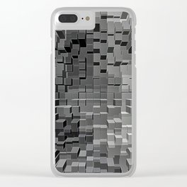 Three Dimensional cubes Clear iPhone Case