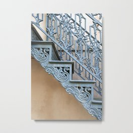 Savannah Blue Staircase Metal Print