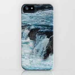 Blue Ice Glaciers Melting in Spring iPhone Case