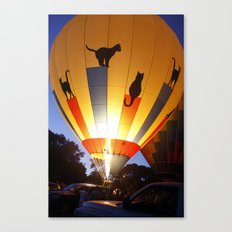 Kitty Hot-Air Balloon Canvas Print