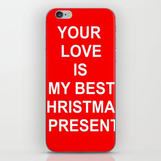 Christmas Red iPhone & iPod Skin
