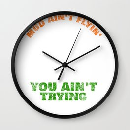 Funny Offroad 4x4 Because Mud design Wall Clock