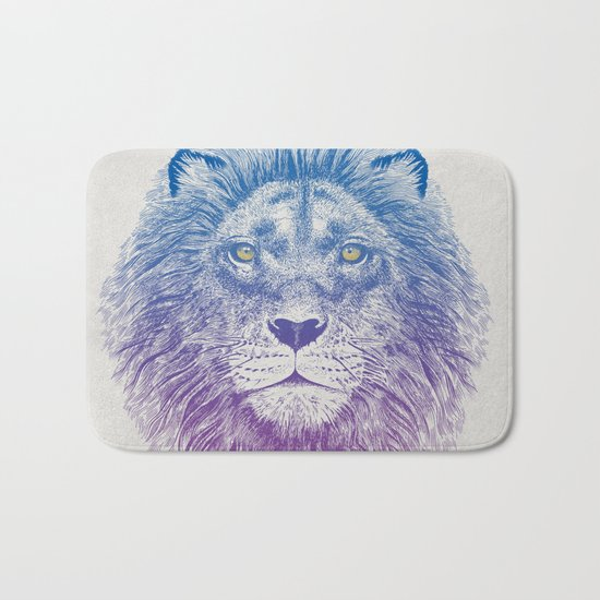 Face of a Lion Bath Mat