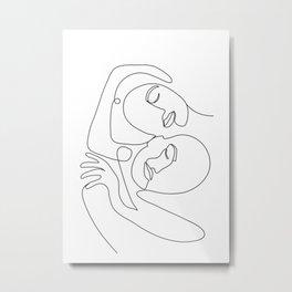 Line Faces 03 Metal Print