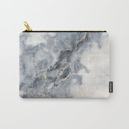 Gray Marble Texure Carry-All Pouch