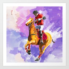 power of polo Art Print