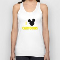 cartoons Tank Tops featuring I heart Cartoons by ihearteverything