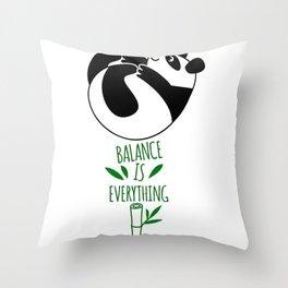 Balance Is Everything! Tumbling panda Throw Pillow