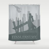 final fantasy Shower Curtains featuring Final Fantasy VII by [SilenceCorp.]