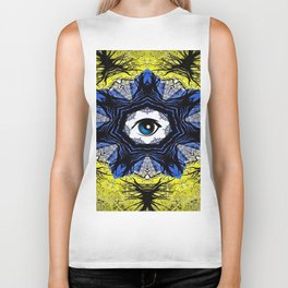 WEB OF EYES Biker Tank