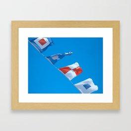 Nautical Flags Flying Framed Art Print