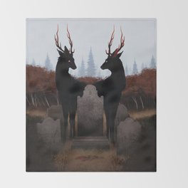 The Mourners Throw Blanket