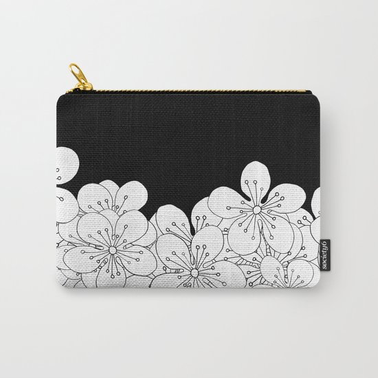 Cherry Blossom Boarder Carry-All Pouch
