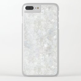 White Apophyllite Close-Up Crystal Clear iPhone Case