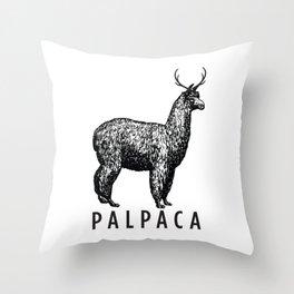 the palpaca Throw Pillow