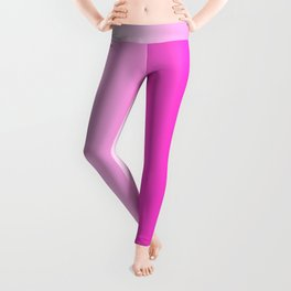 White and Pink Gradient 044 Leggings
