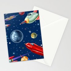 rockets in traffic Stationery Cards