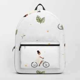 Bike Ride Pattern Backpack