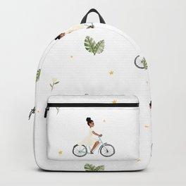 Bike Ride Pattern Backpack