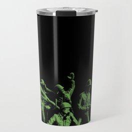 Plastic Army Man Battalion Black and Green Travel Mug