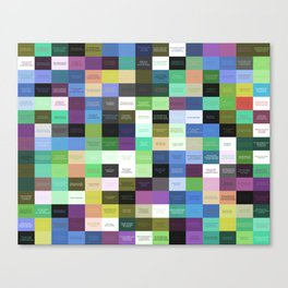Colored life quotes Canvas Print