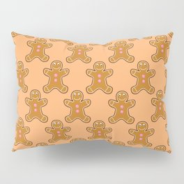 Brown Gingerbread Men Pillow Sham