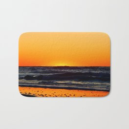 Orange Sunset on the Beach Bath Mat