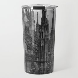 Milan Cathedral, Lombardy, Milan, Italay black and white portrait photograph Travel Mug