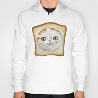 snoopy Hoodies featuring Snoopy aka Breadcat - Cats with Moustaches by Megan Mars