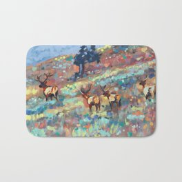 Bull Elk, Yellowstone Bath Mat
