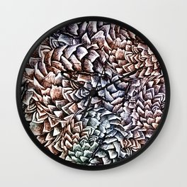 Artichokes and Pangolins Muted Wall Clock
