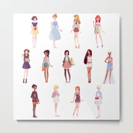 casual princesses - group Metal Print