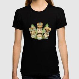 Tropical Hawaiian Deluxe Tiki Party Pattern T-shirt
