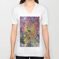 cosmos V-neck T-shirts featuring Cosmos by Cătălina Drăgulin