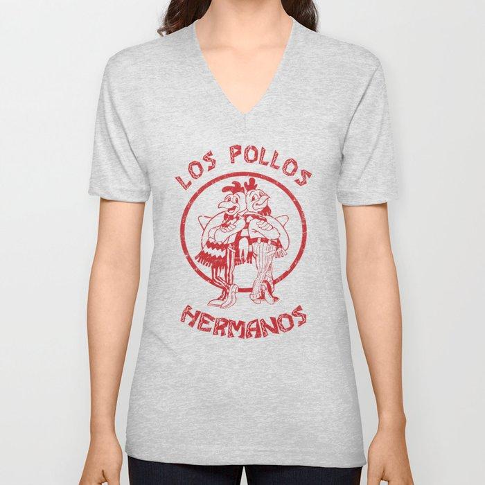 Los Pollos Hermanos vintage ( Breaking Bad ) Unisex V-Neck