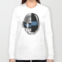 tron Long Sleeve T-shirts featuring Daft Punk - Tron Legacy by Hayes Johnson