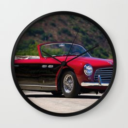 1951 Siata-American 208s Cabriolet Speciale by Stabilimenti Farina Wall Clock