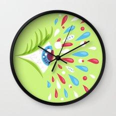 Psychedelic eye Wall Clock