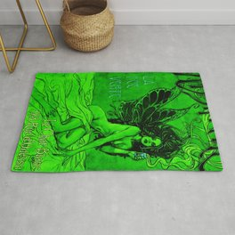 Vintage Parisian Green Fairy Absinthe Advertisement Poster Rug