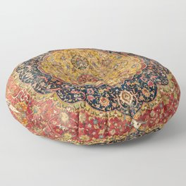Indian Boho III // 16th Century Distressed Red Green Blue Flowery Colorful Ornate Rug Pattern Floor Pillow