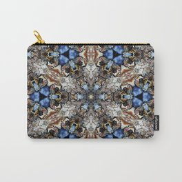 River Birch bark with blue sky kaleidoscope Carry-All Pouch