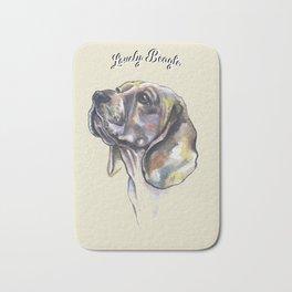 Lovely Beagle - by Fanitsa Petrou. Bath Mat