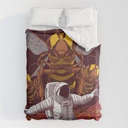 Killer bees on Mars. Duvet Cover