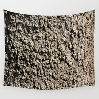 western Wall Tapestries featuring TEXTURES -- Western Sycamore Bark by Ralph S. Carlson